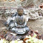 Bouddha dans le jardin
